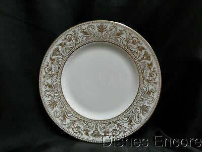 """Wedgwood Gold Florentine W4219, Dragons on White: Luncheon Plate, 9"""""""