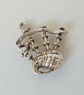 BAGPIPES Scottish Irish Vintage Sterling Silver Charm