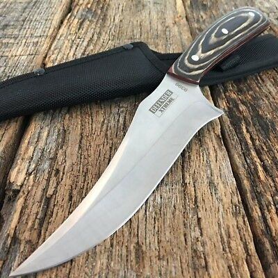"11"" Defender Xtreme Full-Tang Hunting Knife with Wooden Handle Sheath i"