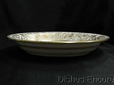 """Wedgwood Gold Florentine W4219, Dragons on White: Oval Serving Bowl (s), 10"""""""