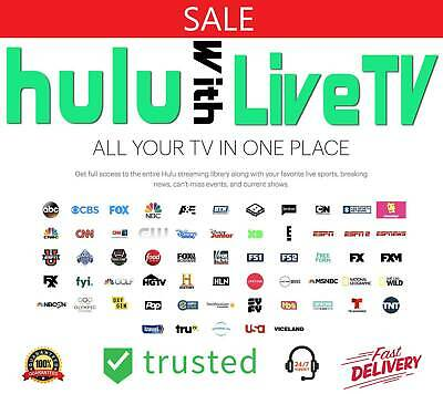 Hulu No Commercials + LiveTV Add-On Account | Lifetime Subscription + Free Gift