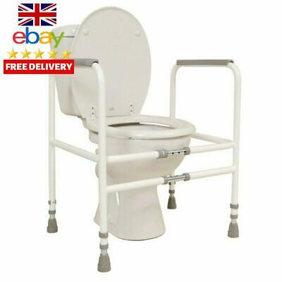 Nrs Healthcare M00870 Free Standing Toilet Frame - Width And Height Adjustable (