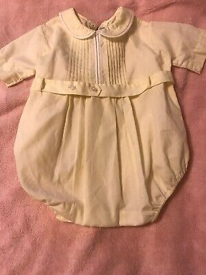 b747a71b3 Yellow Feltman Bros Bubble Outfit Baby Boy 3 6 Months Vintage One Piece  Wedding