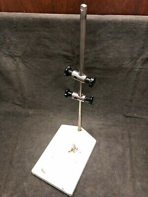 "24"" Cast Iron Heavy Duty Lab Stand w/Stainless Steel Rod"