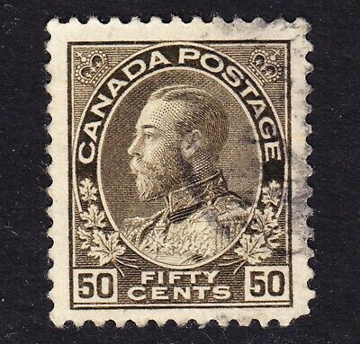 Canada 1925 KG V admiral Scott 120var dash in Y of fifty variety  VF used.