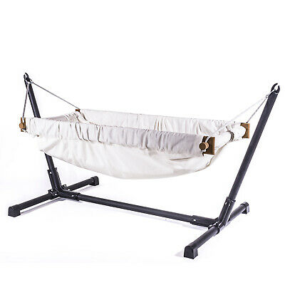 Wooden organic raw fabric baby bassinet bedding hammock for indoor or outdoor