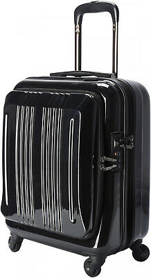 Carry On Luggage Suitcase Bag Small Hard-Side Rolling Spinners Baggage Black 18