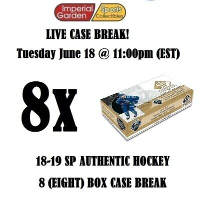 18-19 SP AUTHENTIC 8 (EIGHT) BOX CASE BREAK #1331 - Edmonton Oilers
