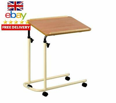Days Overbed Table With Castors, Adjustable Height And Angle, Portable And Sturd