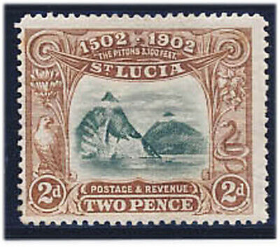 St. Lucia 1902 Island Discovery Stamp #49 MH CV $16 FREE Ship after 1st Lot