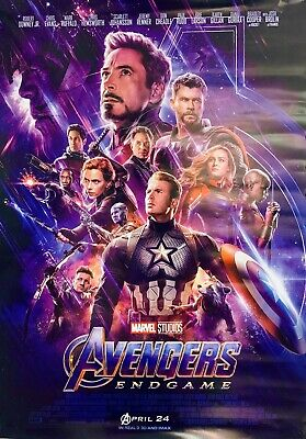 RARE- AVENGERS ENDGAME Movie Bus Stop Poster 2 Sided Original INTL FINAL MARVEL
