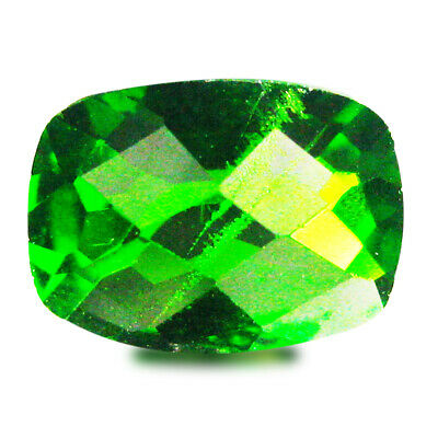 1.43 ct AAA+ Super-Excellent Cushion Shape (8 x 6 mm) Green Chrome Diopside