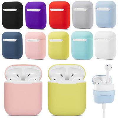 For Apple AirPods Cover Case Slim Skin Silicone Charging Protective Portable