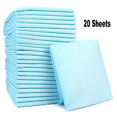 20 Sheets Disposable Bed Pads Incontinence Sheets Baby Changing Mats 60cm x 90cm