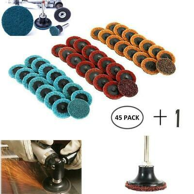 """45pcs/set 2"""" Grit Roloc Cleaning Conditioning Roll Lock Surface Sanding Discs"""