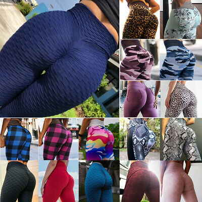 Women's Anti Cellulite Yoga Pants Push Up Leggings Fitness Athletic Trousers A90