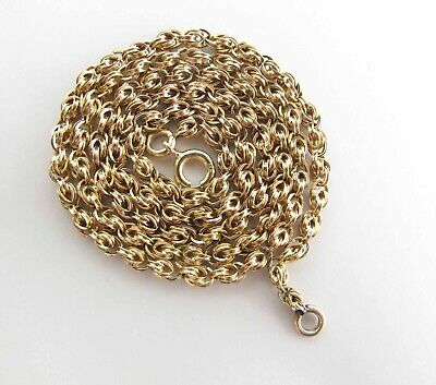 Antique Victorian Fancy 14K Yellow Gold Chain Necklace 18 1/4-Inches