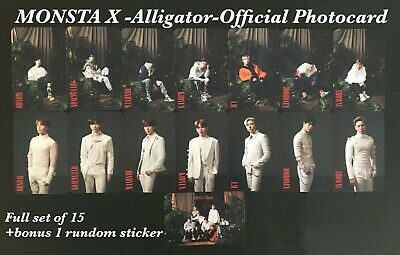 MONSTA X LIVIN'IT UP Japan Official Full Set of 8 Photo card