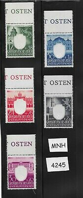 #4245  MNH Embossed Swastika complete stamp set / 1943 Germany Occupied Poland