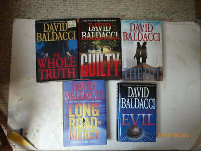 Lot of 5 David Baldacci Thrillers hardcover Long Road to Mercy,The Guilty......