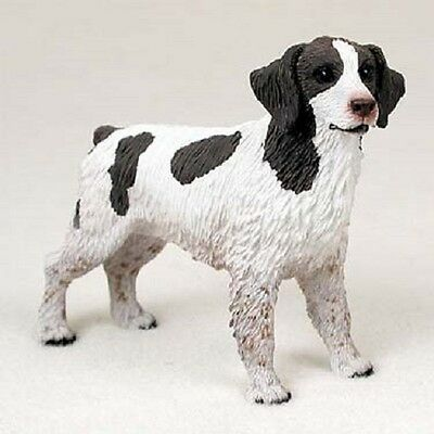 BRITTANY Dog HAND PAINTED FIGURINE Resin COLLECTIBLE Statue LIVER BROWN Puppy
