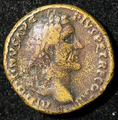 Ancient Roman Bronze Coin Antonias Pius Sestertius Item#J4243