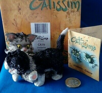 Catissimo Cat Ornament CA19 Umberto Giacco by Parastone with box and tag 2002