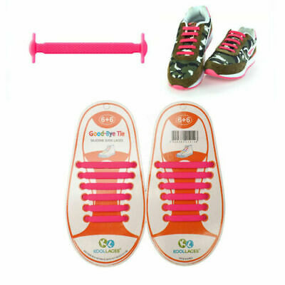 No Tie Shoe Laces Elastic Silicone Lazy Shoelaces For Adults Kids Trainer Canvas