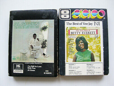 PAIR of Rush 8 track Tapes - AL GREEN I'M STILL IN LOVE WITH YOU / BETTY EVERETT