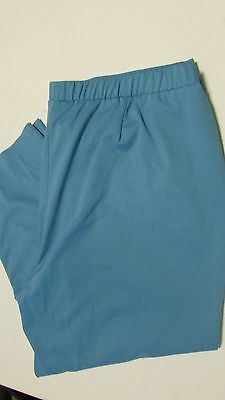 Women's Size 24W Turquoise Stretch Waist Casual Pants By Allison Daley