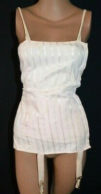VTG Antique 1920s Pink Full Girdle Corset Body Slimming Boned flapper art deco