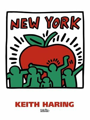 Untitled, 1989 by Keith Haring Art Print New York Big Apple NYC Poster 18x24