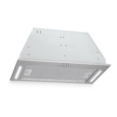 Hotte de cuisine aspirante encastrable 60cm Extraction 590 m³/h LED - inox