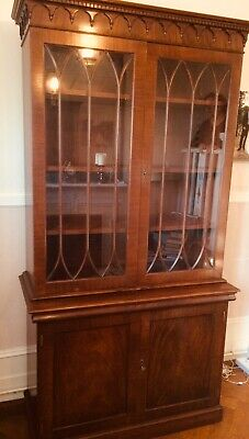 Mahogany secretaire bookcase. Good condition.