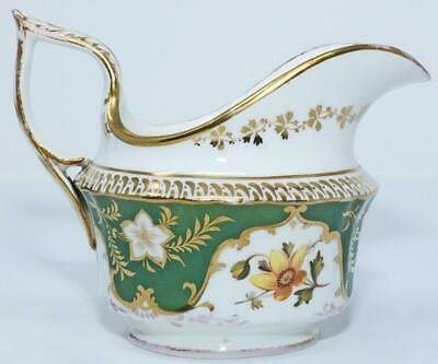 ANTIQUE REGENCY COALPORT ENGLISH PORCELAIN GILDED JUG CREAMER c1825