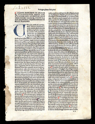 Leaf  Lot (2)  Hand-Colored Letters The Passion of Christ 1485 Rare  Incunable