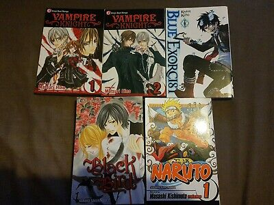 Manga Bundle Naruto Vampire Knight Blue Exorcist
