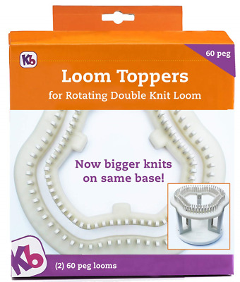 Authentic Knitting Board 60 Peg Loom Toppers, use with Rotating, 26 x 24.8 x 1.5