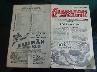 CHARLTON ATHLETIC v PORTSMOUTH     Div 1   1946/47