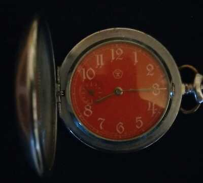 Manhhr pocket/fob watch - Full working order, keeps time. Quiet tick.