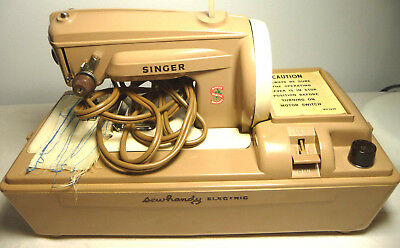 Nice used vintage MINI SINGER sewing Machine (without Shuttle) as is or 4 parts