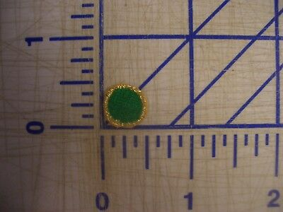 Green Dots Metallic Gold Outline Iron On Patch Embroidery Applique EDC  NPC IFB