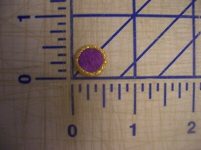 Purple Dots Metallic Gold Outline Iron On Patch Embroidery Applique EDC  NPC IFB