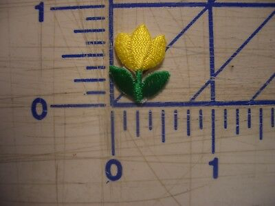 "3/4"" Yellow Green Tulip Iron On Patch Embroidery Applique Sew GlueON EDC NPC IFB"