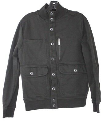 Kenneth Cole Reaction Mens Jacket Black Button Up Size Small