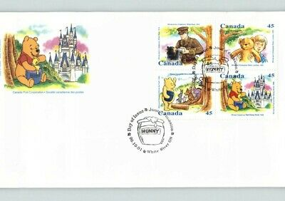 CANADA; WINNIE the POOH, All 4 stamps on FDC, HUNNY First Day cancel 1996