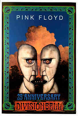 Pink Floyd Division Bell 25th Anniversary Official Poster Hand Signed Bob Masse