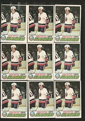 15 Card Bryan Trottier 1977-78 Opc Base Lot Condition Varies Card #105 See Pics
