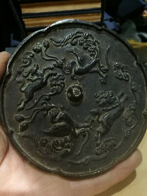 Chinese old bronze mirrors, Feng shui mirror,Four Mythical Animals