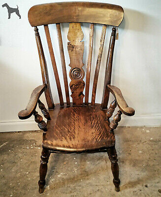 Summer Sale !! Victorian Windsor armchair. Free Shipping